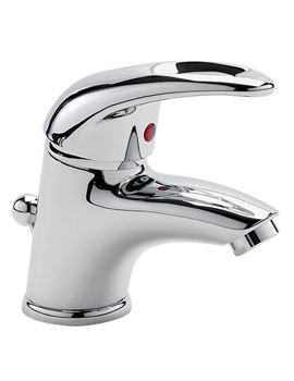 Latina Mini Mono Basin Mixer Tap With Pop Up Waste Chrome