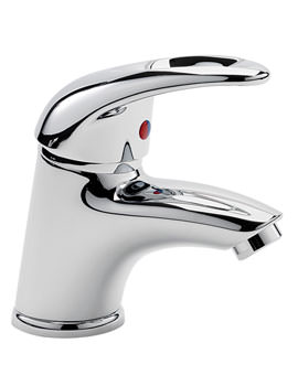 Latina Mini Mono Basin Mixer Tap With Click Clack Waste