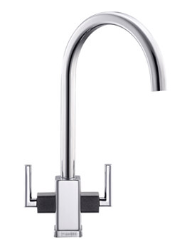 Related Franke Mythos MTG Chrome Kitchen Sink Mixer Tap With Onyx Shoulders