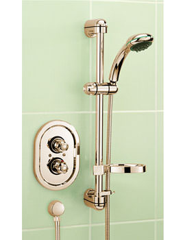Roma Gold Concealed Thermostatic Shower Valve With Kit