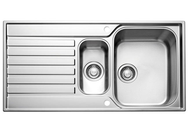 Large Image of Franke Ascona ASX 651 Stainless Steel 1.5 Bowl Kitchen Inset Sink
