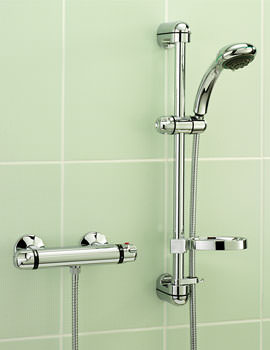 Roma Chrome Exposed Thermostatic Shower Valve With Kit