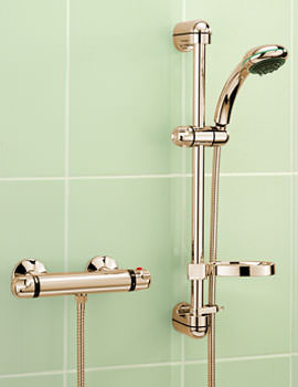 Roma Gold Plated Exposed Thermostatic Valve With Kit