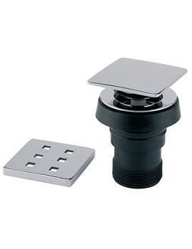 Square Bath Pop Up Waste With Finger Tip Control