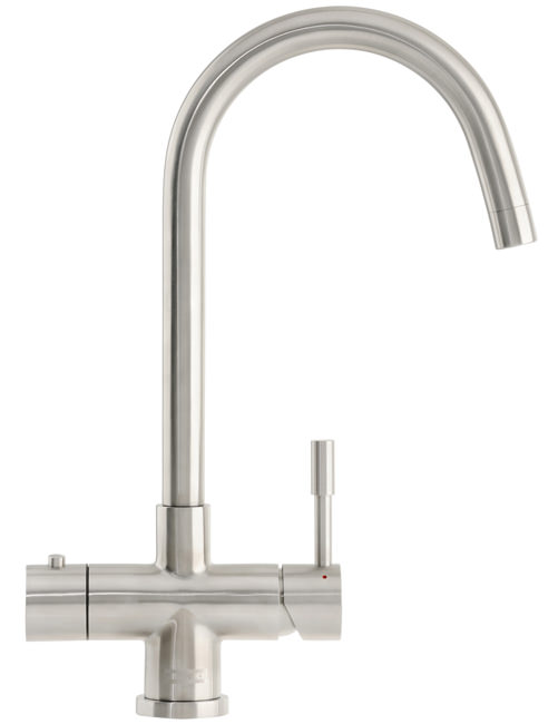 Large Image of Franke Minerva Helix 3-In-1 Kettle Tap Stainless Steel - 119.0273.069
