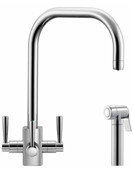 Related Franke FilterFlow Kubus Sink Mixer Tap With Hand Spray Chrome