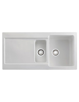 Franke Maris MRK 651 White Ceramic 1.5 Bowl Kitchen Inset Sink