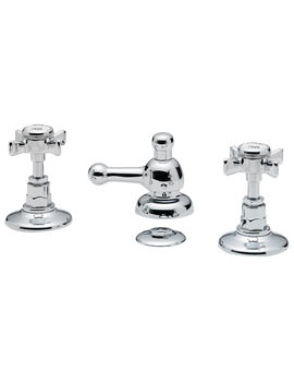 Imperial 3 Hole Bidet Mixer Tap With Pop Up Waste Chrome