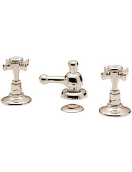 Tre Mercati Imperial 3 Hole Bidet Mixer Tap With Pop Up Waste Gold