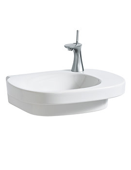 Mimo 550x440mm Asymmetrical Washbasin Without Tap Hole