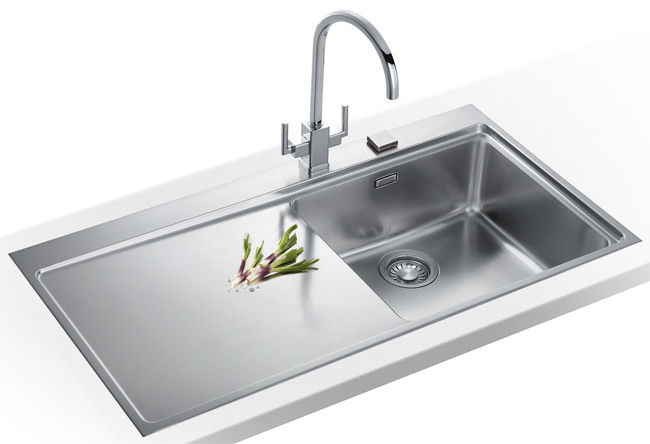 Large Image of Franke Mythos Slim-Top DP MMX 211 Stainless Steel Kitchen Sink And Tap