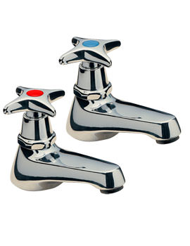 Capri Crosshead Pair Of Basin tap Chrome - 341