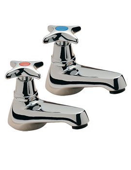 Capri Crosshead Pair Of Bath tap Chrome - 342