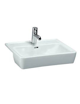 Pro A 560 x 440mm Semi Recessed Basin With 1 Tap Hole