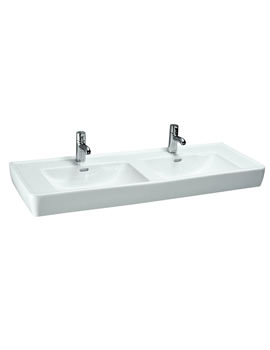 Pro A 1300 x 480mm Double Countertop Basin Without Tap Hole
