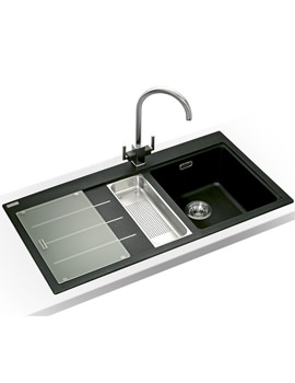 Image of Franke Mythos Fusion Designer Pack MTF 651-100 Fragranite Onyx Sink And Tap