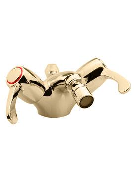 Tre Mercati Capri Lever Basin Mixer Tap With 3 Inch Lever Gold - 4883