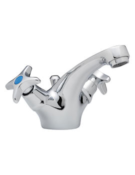 Related Tre Mercati Capri Crosshead Mono Basin Mixer Tap With Pop Up Waste