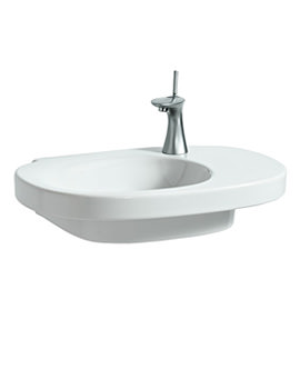 Mimo 650 x 440mm Asymmetrical Washbasin Without Tap Hole