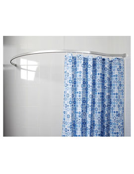 Croydex Curved To Wall Profile Shower Rail 1830 x 180mm - White