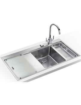 Image of Franke Mythos Slim-Top DP MMX 261 Stainless Steel Kitchen Sink And Tap