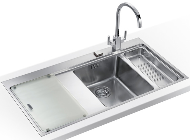 Large Image of Franke Mythos Slim-Top DP MMX 261 Stainless Steel Kitchen Sink And Tap