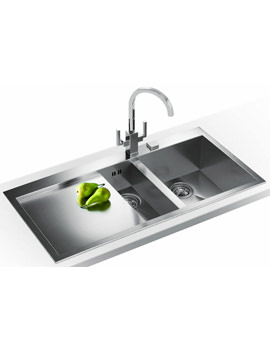 Related Franke Planar Slim-Top DP PPX 251 Stainless Steel Kitchen Sink And Tap