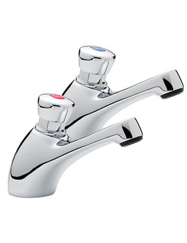 Image of Tre Mercati Capri Non Concussive Pair Of Basin Tap Chrome - 406