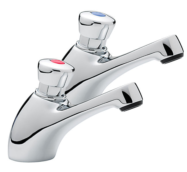 Large Image of Tre Mercati Capri Non Concussive Pair Of Basin Tap Chrome - 406