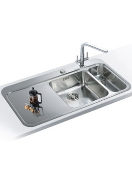 Related Franke Sinos Designer Pack SNX 261 1.5 Bowl Stainless Steel Sink And Tap