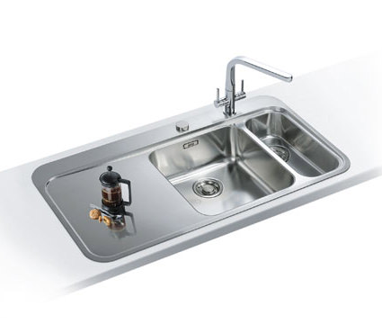 Franke Sinks And Taps Best Price : Franke Sinos DP SNX 261 1.5 Bowl Stainless Steel Sink And Tap
