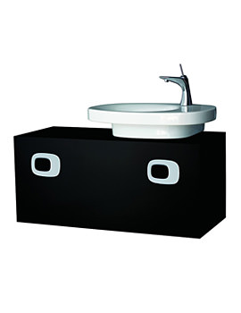 Mimo 1000mm Vanity Unit For Right Hand Basin - Black