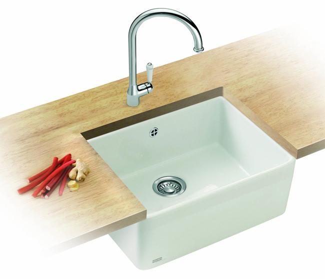 Franke White Ceramic Sink : ... Franke Belfast Designer Pack VBK 710 White Ceramic Kitchen Sink And