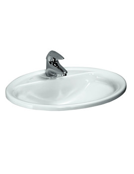 Pro B 560 x 440mm Drop-In Washbasin With 1 Tap Hole