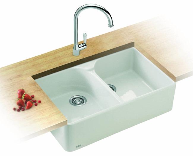 Franke White Ceramic Sink : ... Franke Belfast Designer Pack VBK 720 White Ceramic Kitchen Sink And