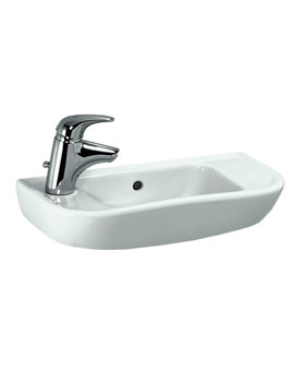 Pro B 500 x 250mm Small Washbasin With 1 Tap Hole Left