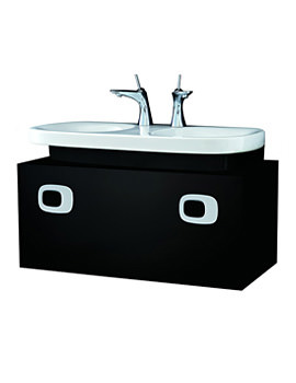 Mimo 1000mm Black Vanity Unit For Double Washbasin