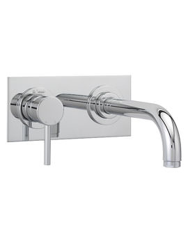 Milan 2 Hole Short Spout Basin Mixer Tap Chrome - 63095