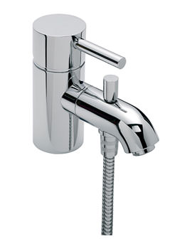 Milan Mono Bath Shower Mixer Tap with Shower Kit Chrome