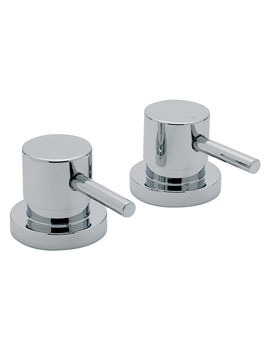 Milan 3-4 Inch Pair Of Side Valve Chrome - 63000