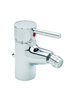 Tre Mercati Hula Mono Bidet Mixer Tap With Pop Up Waste Chrome