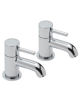 Milan Pair Of Bath Tap Chrome - 63020