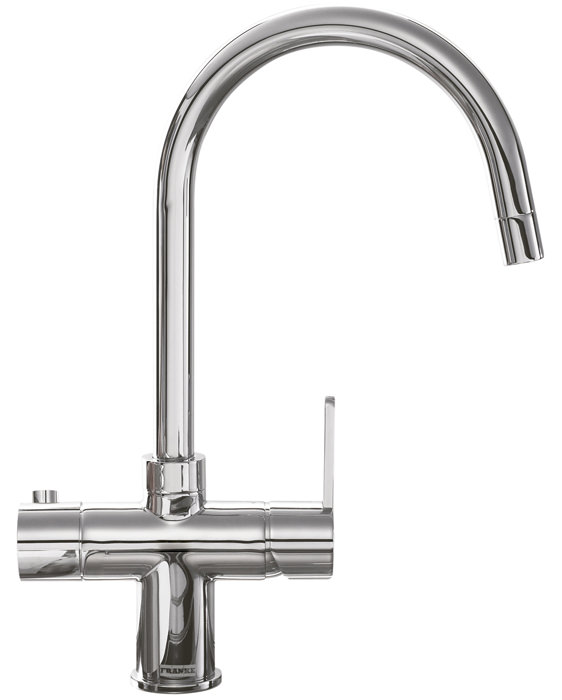 Large Image of Franke Minerva 3-In-1 Kettle Kitchen Sink Mixer Tap Chrome
