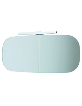 Mimo Mirror Cabinet With Lighting 1000 x 450mm - White