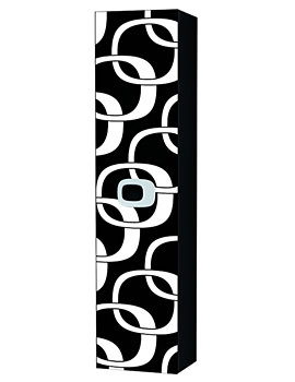 Laufen Mimo Tall Cabinet 360 x 1500mm - Black With White Graphics