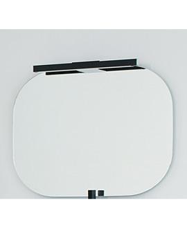 Laufen Mimo Mirror With Light 550 x 450mm - Black