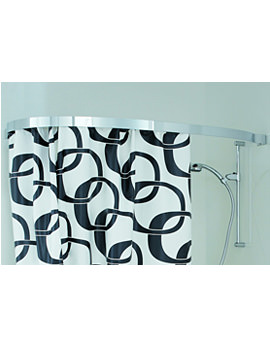 Related Laufen Mimo 1400 x 800mm Shower Curtain Rail For Right Corner