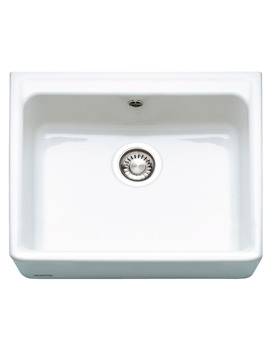 Franke Belfast BFK 710 White Ceramic 1.0 Bowl Kitchen Sink