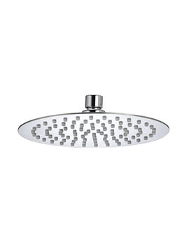 Bristan Stainless Steel Slimline 200mm Round Fixed Shower Head