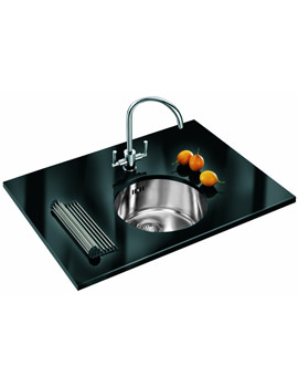 Related Franke Rotondo Designer Pack RUX 110 Stainless Steel Sink And Tap
